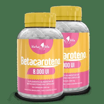Betacaroteno. Kit com 02 Frascos