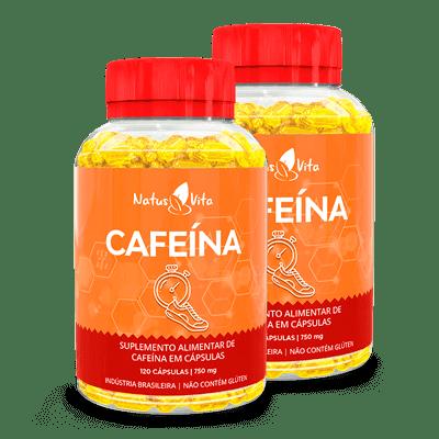 Cafeína (American Pharm). Kit com 02 Frascos